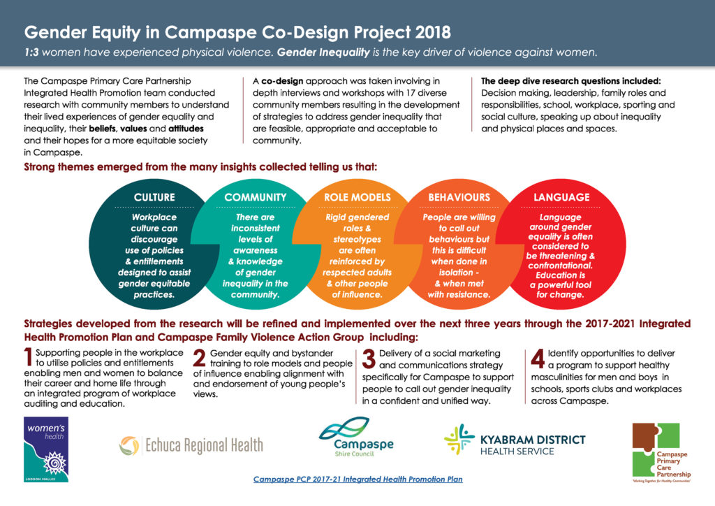 Gender Equity Codesign Project Infographic